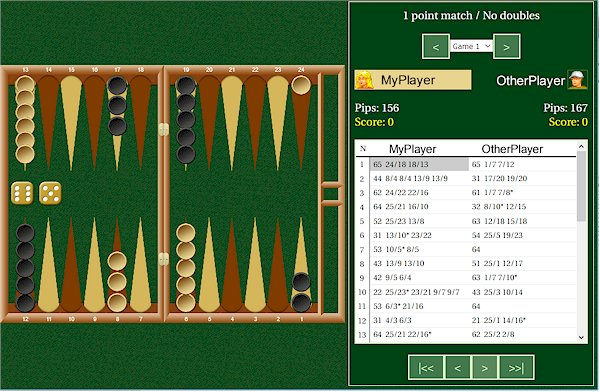 Backgammon Game Viewer - Example